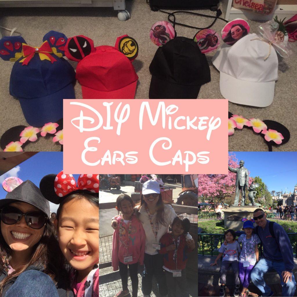 7304ae5eaa865 DIY Mickey Ears Caps - Mom MD Hawaii